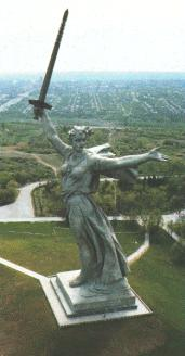 'Motherland' is the masterpiece of the memorial complex in remembrance of the battle of Stalingrad in 1942-1943.